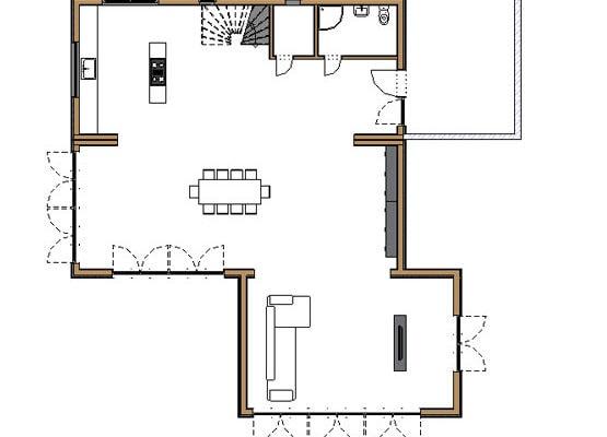 BrettBox®Family - Grundriss unteres Stockwerk